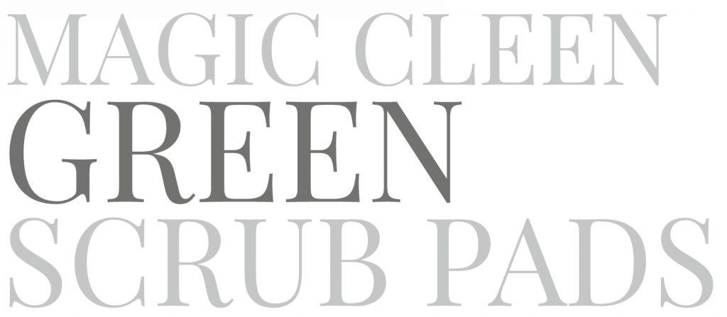 Magic Cleen Green Scrub Pads