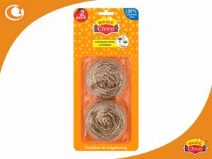 Premium Stainless Steel Scrubber Pack of 2 Magic Cleen