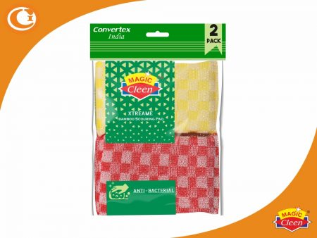 Magic Cleen Xtreame Bamboo Scourer Pads Pack of 2