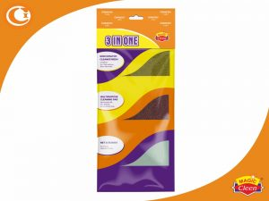 Scrub Scouring Pads Scrubber 3 in One by Magic Cleen
