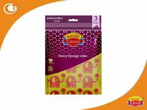 Magic Cleen Fancy Sponge Wipe Pack of 3