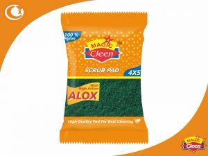 Nylon Green Scrub Pads 4 x 5 Size Magic Cleen